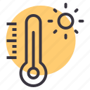 celsius, fahrenheit, heat, hot, summer, temperature, thermometer icon