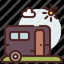 family, holidays, rv, travel icon
