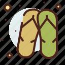 beach, flip, flops, holiday, season icon