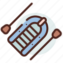 inflatable, raft, river, sea, water icon