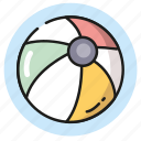 ball, beach, games, summer, vacation icon