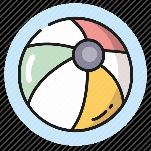 ball, beach, games, summer, vacation icon