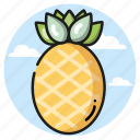 pineapple, seasons, summer, vacation icon