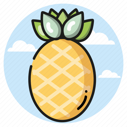 pineapple, seasons, summer, vacation icon