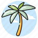 beach, palm, summer, tree, vacation icon