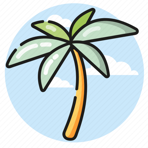 beach, palm, summer, tree, vacation icon