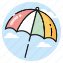 sea, summer, sun, sunny, umbrella icon