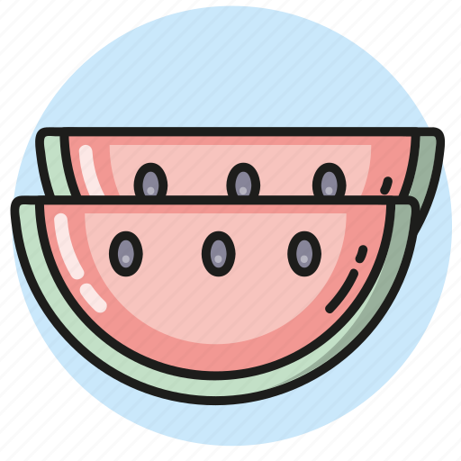 food, fruit, summer, watermelon icon