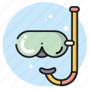 dive, diving, glasses, mask, scuba icon