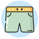 beach, pants, sea, shorts, summer, swimming icon