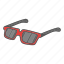 accessories, clothes, clothing, glasses, summer, sunglasses icon