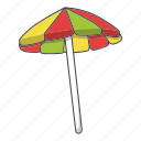 beach, summer, sun, umbrella icon