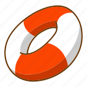beach, lifebuoy, sea, summer icon