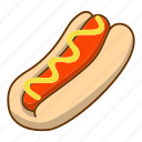 food, hot dog icon