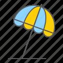 beach, sun, umbrella, parasol, tourism, summer