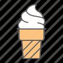 ice, cream, cone, frozen, dessert, sweet, waffle