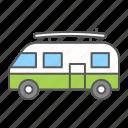 surfer, van, summer, minivan, vehicle, hippie, car