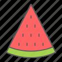 watermelon, fruit, dessert, slice, food, diet
