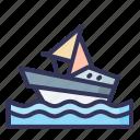 boat, vacation, summer, traveling, recreation, holiday