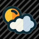 cloud, weather, sun, rain