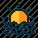 sunset, sun, sunrise, weather