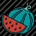 watermelon, fruit, food, restaurant, organic, healthy, diet