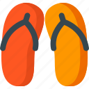 beach, cloth, fashion, flip, flop, summer icon