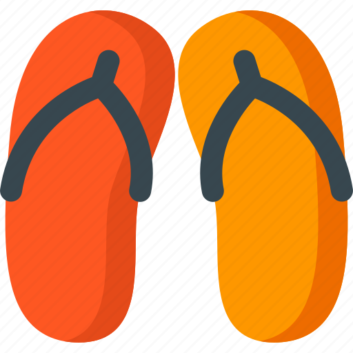 beach, cloth, fashion, flip, flop, summer icon