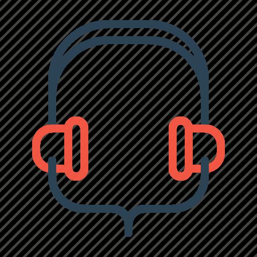 earphone, headphone, headset, music, song, sound icon