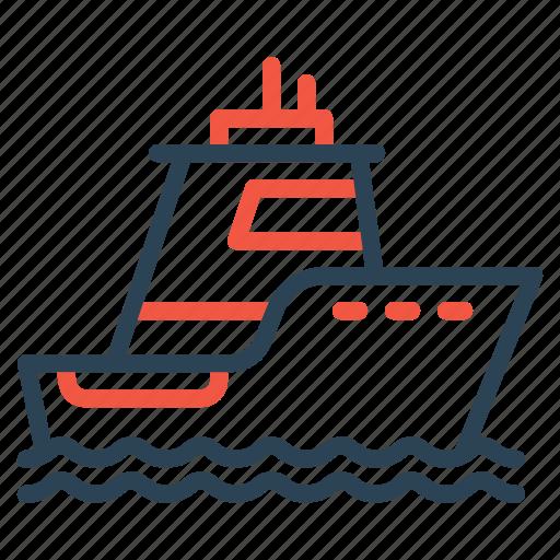 boat, cruise, ocean, sea, ship, vehicle, water icon