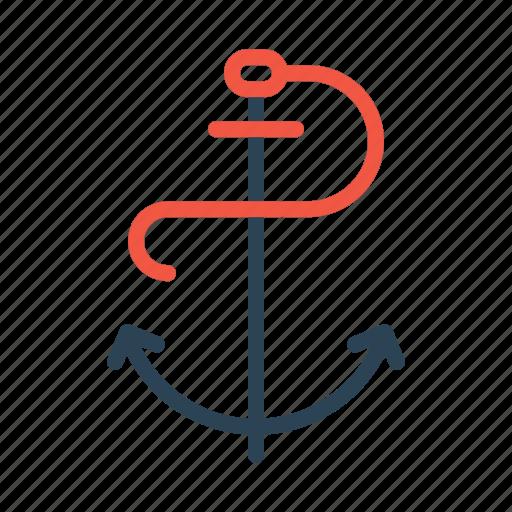 anchor, boat, marine, sailing, sailor icon