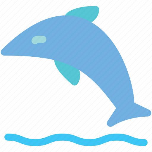 dolphin, fish, sea, whale icon