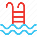 dive, diving, pool, sea, water icon