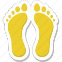 feet, footmarks, footprints, footsteps, human footprints icon