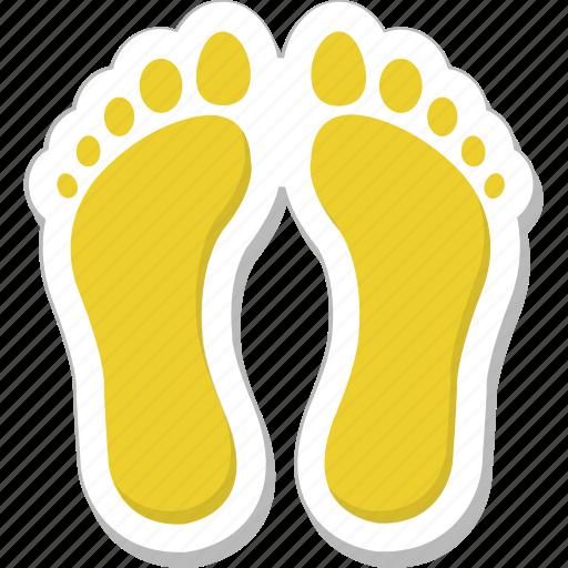 feet, footmarks, footprints, footsteps, human footprints icon