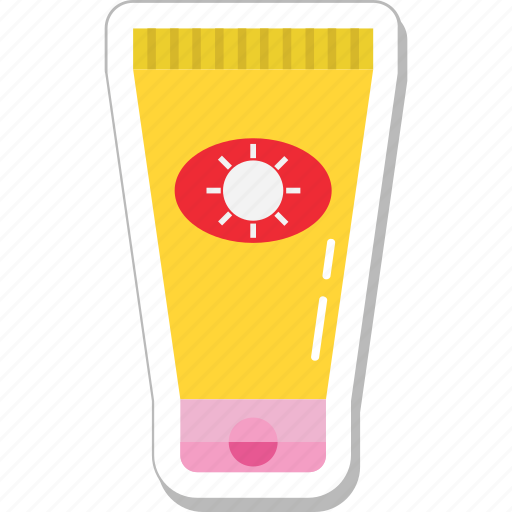 lotion, sun oil, sunblock, sunburn cream, sunscreen icon