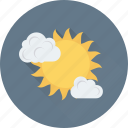 cloud, summer, sun, sunrise, weather icon