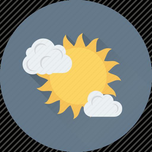 cloud, summer, sun, sunrise, weather icon