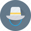 beach hat, hat, headgear, headwear, summer wear icon