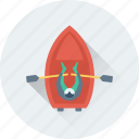 boat, oar, paddle boat, small boat, travel icon