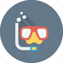 dive mask, diving equipment, scuba mask, snorkel, swim mask icon