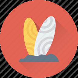 fun board, sports supplies, surfboard, surfing, water surfing icon