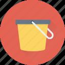 beach pail, bucket, gardening, pail, sand pail icon