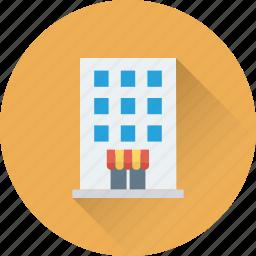 building, hotel, lodge, real estate, tree icon