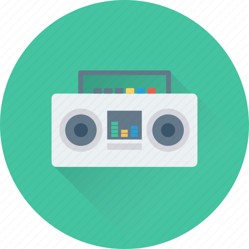 boombox, cassette player, cassette recorder, music, stereo icon