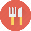 cutlery, dining, fork, knife, tableware icon