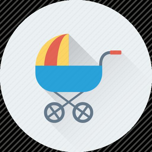 baby buggy, baby stroller, baby transport, sleeping stroller, stroller icon