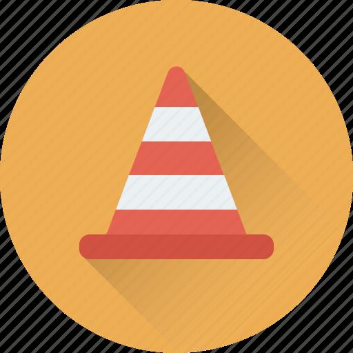 cone pin, construction cone, road cone, traffic cone, under construction icon