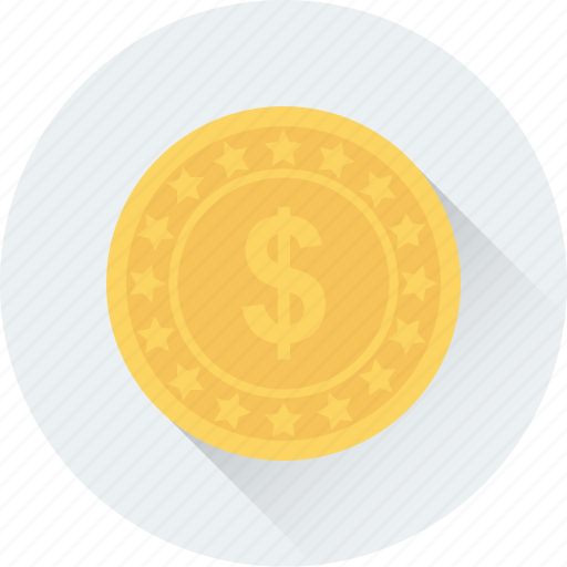 cash, coins, currency coin, dollar coin, money icon