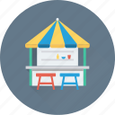 booth, food point, food stall, food stand, market stand icon